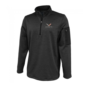 C7 Corvette Roadway Quarter-Zip Fleece Jacket with C7 Emblem : Graphite.