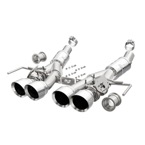 C7 Corvette Stingray, Z51, Z06, Grand Sport, ZR1 Magnaflow Axle-Back Exhaust System, Competition Series with polished tips.