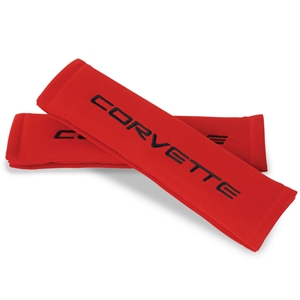 Corvette Seatbelt Harness Pad - Red : 1997-2004 C5