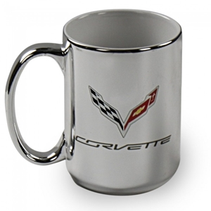 C7 Corvette Stingray Silver Coffee Mug - 15 oz.