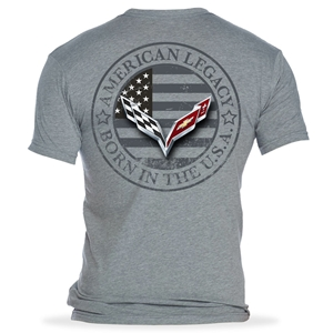 C7 Corvette Born in the USA American Legacy Men's T-shirt : Gray