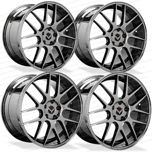 Lexani L-CC7 Black Chrome Cast Monoblock Wheels for C6, C7 and C7 Z51 Corvette