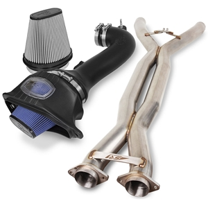 "SR1 Performance 3"" X-Pipe and aFe Momentum Pro 5R Air Intake System for C7 Corvette Z06"