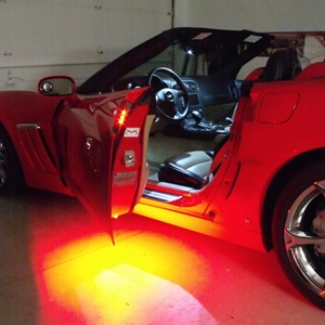 2005-2013 Corvette C6, Z06, ZR1, Grand Sport Footwell/Door Handle/Under Door Puddle LED Lighting Kit