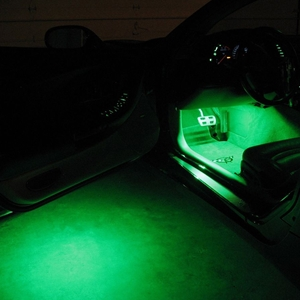 1997-2004 C5 Corvette Footwell/Under Door Puddle LED Lighting Kit
