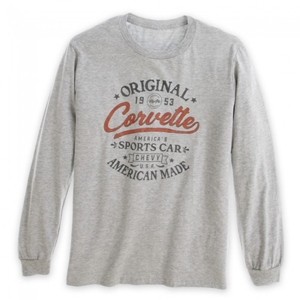 C1 - C7 Corvette Original American Made Long Sleeve Tee - Heather Gray