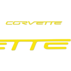 Corvette Interior Airbag Vinyl Letter Decals - Pass. Side : 2005-2013 C6, Z06, ZR1, Grand Sport