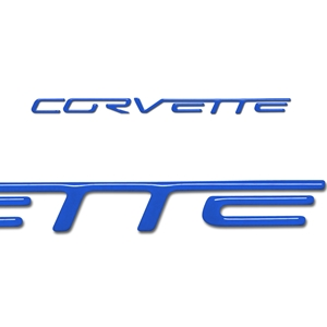 Corvette Domed Airbag Letter Decals - Pass. Side : 2005-2013 C6, Z06, ZR1, Grand Sport