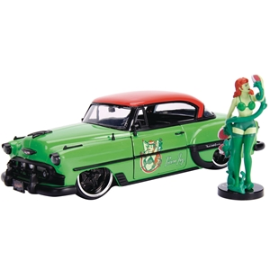 1953 Chevrolet Bel Air Poison Ivy - Green/Red Die-Cast Figure 1:24. DC Comics Bombshells
