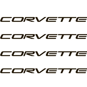 "1997-2004 C5 Corvette Decals 4"" x .25"" - Black - 4 Pc. Set"