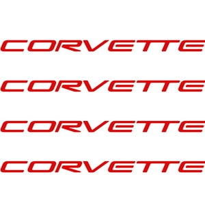 "1997-2004 C5 Corvette Decals 4"" x .25"" - Red - 4 Pc. Set"