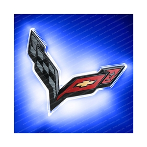Corvette Illuminated LED Rear Emblem  - Carbon Flash - ORACLE™ : C7 Stingray, Z51, Z06, ZR1