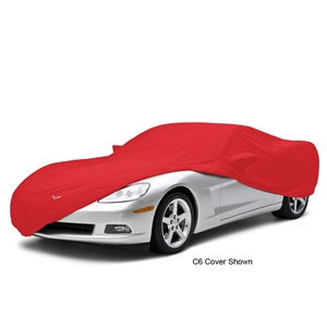 Corvette Car Cover - All Weather Custom Fit with Z06 Logo - Red : 2006-2013 Z06