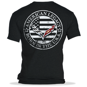 C7 Corvette Born in the USA American Legacy Men's T-shirt : Black