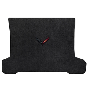 C7 Corvette Stingray Cargo Mat with Carbon Crossed Flags logo - Lloyds Mats