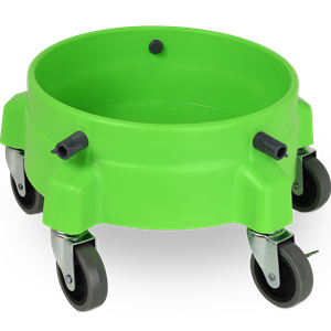 "Liquid X Bucket Dolly Lime Green w/3"" Casters"