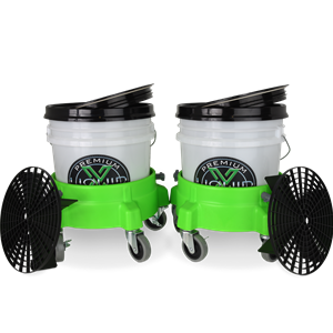 Liquid X Dual Bucket Wash System w/Dollies