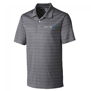 C7 Corvette ZR1 Striped Polo - Cutter & Buck : Charcoal Heather