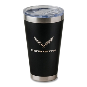 C7 Corvette Crossed Flags Basecamp Pint Tumbler : Stingray