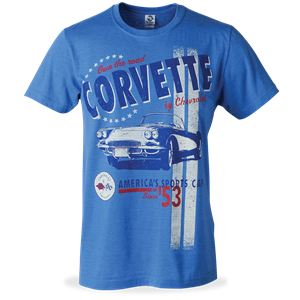 Corvette America's Sports Car - T-Shirt : Heather Royal