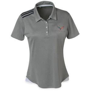 C7 Corvette Ladies Adidas Climacool Sport Shirt : Black Stripes
