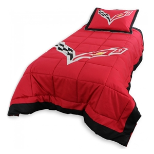 C7 Corvette Reversible Twin Comforter/Pillow Sham Set
