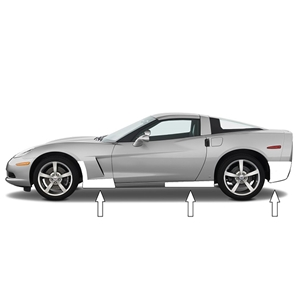 Corvette Paint Protection Kit - Cleartastic - 2006-2013 C6
