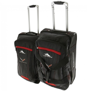 C7 Corvette High Sierra 2pc Luggage Set with C7 Cross Flags Logo