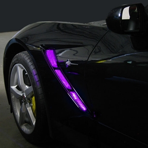 C7 Corvette Stingray Side Cove/Hood Scoop LED Lighting Kit with (4) Function Remote