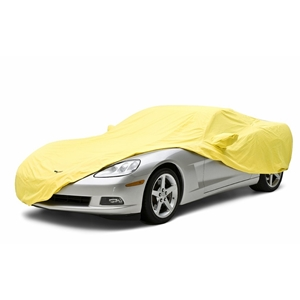 2010-2013 C6 Corvette Grand Sport Convertible Car Cover Coverking® - Satin Stretch™ Indoor Custom - Yellow
