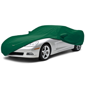 2006-2013 C6 Corvette Convertible Car Cover Coverking® - Satin Stretch™ Indoor Custom - Green