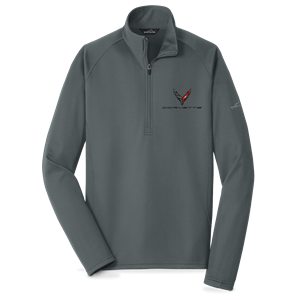 C8 Corvette Next Generation Eddie Bauer Half Zip Fleece Jacket : Charcoal