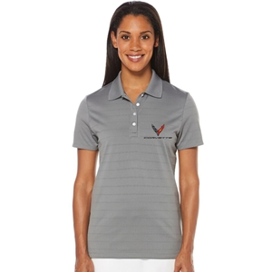 C8 Corvette Next Generation Ladies Callaway Dry Core Polo : Smoke