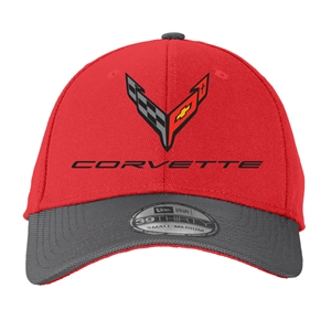 C8 Corvette Next Generation Flexfit Ballastic Hat - Red
