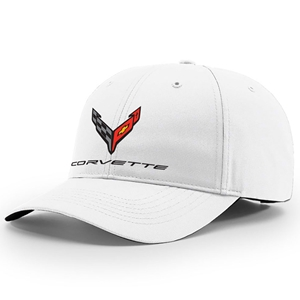 C8 Corvette Next Generation StayDri Performance Hat - White