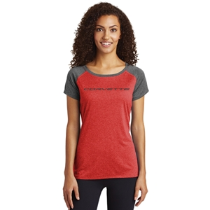 C8 Corvette Next Generation T-shirt - Ladies : Heather Red