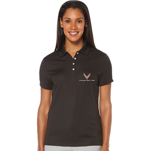 C8 Corvette Next Generation Ladies Callaway Dry Core Polo : Black