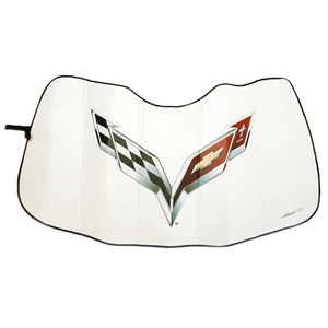 Corvette Folding Insulated Windshield Sun Shade : 2014 - 2019 C7 Stingray, Z06, Grand Sport