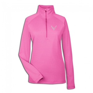 C8 Corvette Next Generation Ladies Under Armour Quarter-Zip : Pink.