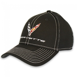 C8 Corvette Next Generation New Era Stretch-Mesh Cap - Black/White