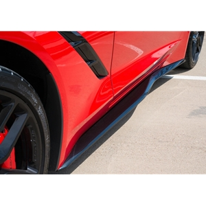 Corvette Side Skirts - Carbon Flash : C7 Stingray, Z06, Grand Sport