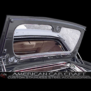 Corvette Trunk Lid Liner Polished Stainless Steel : 1998-2004 C5 Convertible, Z06