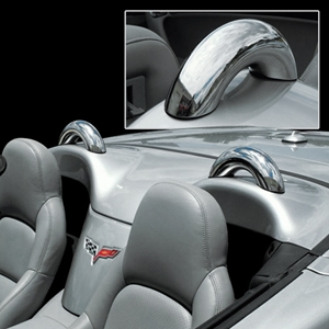 Corvette Convertible Dress-Up Hoops (Set) - Polished Stainless Steel : 2005-2013 C6 Convertible only