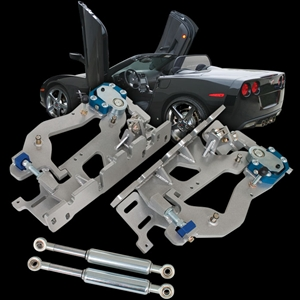 Corvette Lambo Style Vertical Doors - LSD Hinge Kit : 2005-2013 C6,Z06,ZR1,Grand Sport