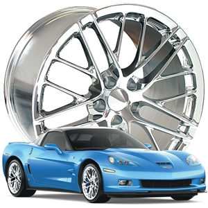 2009-2011 ZR1 Corvette GM Wheel Exchange (Set): Chrome 19x10/20x12