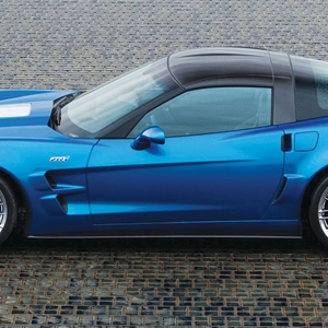 Corvette Body Side Skirt Package - GM C6 ZR1 Style : 2005-2013 C6