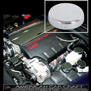 Corvette Engine Cap Set - Chrome Overlay : 2005-2013 C6