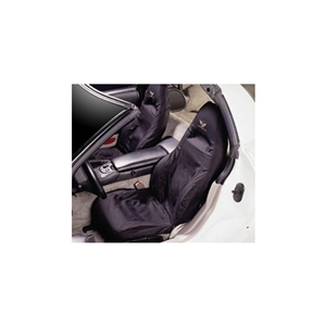 Corvette Seat Covers - Cotton Seat Protectors - Black : 1997-2004 C5 & Z06