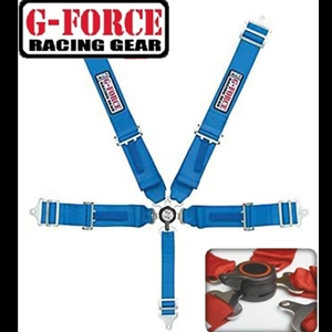 Corvette Shoulder Harness Cam Lock G-Force Racing - 5 Point : Blue