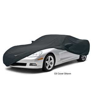 Corvette Car Cover - All Weather Custom Fit with Z06 Logo - Black : 2006-2013 Z06